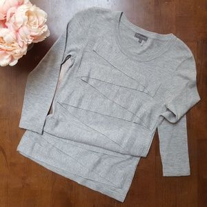 Vince Camuto, Zigzag Sweater, Heather Gray, XS